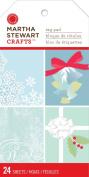 Martha Stewart Crafts Frosty Elegance Tag Pad for Scrapbooks, Large