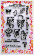 Chibi animals // Clear stamps pack (10cm x 18cm ) FLONZ
