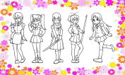 Anime Girls // Clear stamps pack (10cm x 18cm ) FLONZ