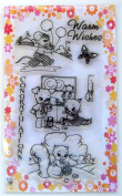 Squirrel and kitten // Clear stamps pack (10cm x 18cm ) FLONZ
