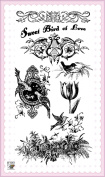Sweet Bird of Love // Clear stamps pack (10cm x 18cm ) FLONZ