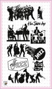 Play Jazz // Clear stamps pack (10cm x 18cm ) FLONZ