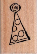 Hat 1 Wood Mounted Rubber Stamp