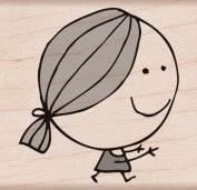 Hero Arts Woodblock Stamp, Smiling Girl