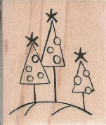 Dotty Trees Wood Mounted Rubber Stamp