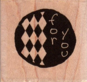 For You Wood Mounted Rubber Stamp
