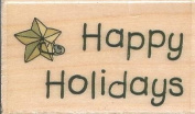 Happy Holidays Boyds Collection Wood Mounted Rubber Stamp