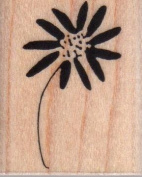Leaning Daisy Wood Mounted Rubber Stamp