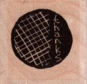 Mesh Circle Wood Mounted Rubber Stamp
