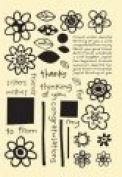 Simply Chic Flexible Stamps FUN FLOWER Set of 35