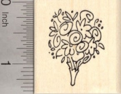Wedding Bouquet Rubber Stamp, Flowers
