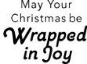 Wrapped in Joy Wood Mounted Rubber Stamp