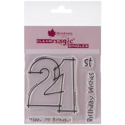 Woodware Craft Collection NOM028979 Woodware Clear Stamps 8.9cm x 8.9cm , 21st Birthday