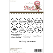 Little Darlings Unmounted Rubber Stamp 10cm x 15cm -Birthday Sentiments