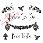 Something Tattered Bride to be Tweet Clear Stamps, 10cm by 10cm