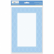 The Paper Company, 2009212, Blue Tapestry 6 by 9 Social Notecard and Envelope, 8 Cnt