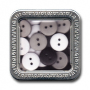 Maya Road Trinkets Buttons in a Tin, Pebble