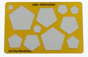 Artistic Design Template - Pentagons
