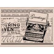 Hero Arts Mounted Rubber Stamps 9.5cm x 8.3cm -Grettings Typewriter