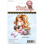 Little Darlings Unmounted Rubber Stamp 7.2cm x 8.3cm -Lisbeth Snack Time