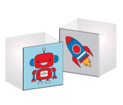 Prima 200954 Acrylic Robot Print Rubber Stamp with 3.8cm by 3.8cm Block