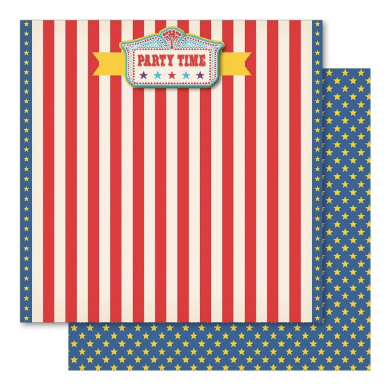 Carnival King Rhinestone Cardstock 30cm x 30cm -Party Time 10 per pack