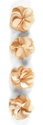Jolee's Boutique Dimensional Stickers, Gold Satin Flowers