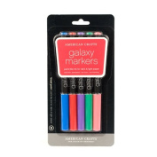 American Crafts Galaxy Marker 5-Pack, Broad Point, Multi Colour