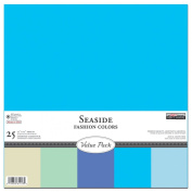 The Paper Company, P61913R, Seaside Cardstock Starter Pack, 12 by 12