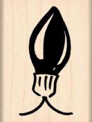 Christmas Bulb Rubber Stamp - 2.5cm - 1.3cm x 5.1cm