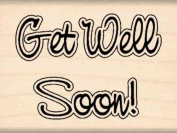 Get Well Soon! Rubber Stamp - 2.5cm - 1.3cm x 5.1cm
