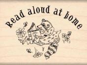 Read aloud at home Rubber Stamp - 2.5cm - 1.3cm x 5.1cm