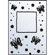 Ecstasy Crafts Embossing Folder Butterfly Frame