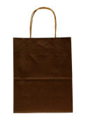 Premier Packaging AMZ-280175 Colours on Kraft Shopping Bag, 8.25 by 12cm by 27cm , 15 Count - Dark Brown