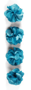 Jolee's Boutique Dimensional Stickers, Turquoise Satin Flowers