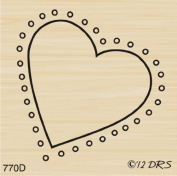 Dotted Heart Rubber Stamp By DRS Designs