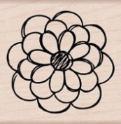 Hero Arts Mounted Rubber Stamps-Hand Drawn Small Flower