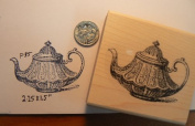 Teapot rubber stamp P34