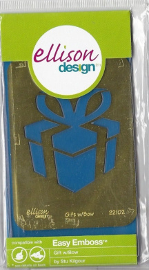 Ellison Design Easy Emboss Stencil - Gift with Bow