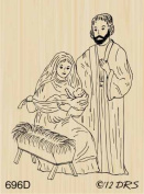 Small Nativity Scene Rubber Stamp By DRS Designs