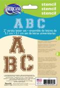 DecoArt 13cm -by-18cm Stencil Home Decor Series, 5.1cm Varsity Alphabet