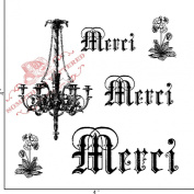 Something Tattered Merci Chandelier Clear Stamps, 10cm by 10cm