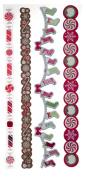 Martha Stewart Crafts Peppermint Winter Adhesive Die-Cut Borders for Scrapbooks