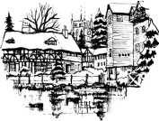 Art-Kure EZMount Cling Stamp-Tewksbury Mill 5.1cm - 1.3cm x 5.1cm