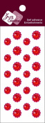 Zva Creative CRW-06CA-151 Crystal Sticker, Red Flower Accents