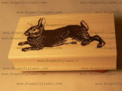 Hare, rabbit rubber stamp WM