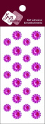Zva Creative CRW-06CA-150 Crystal Sticker, Rosy Flower Accents