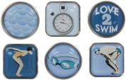 Karen Foster Swimming Design Scrapbooking and Craft Embellishment Bubble Brads
