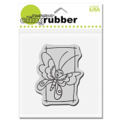 Stampendous CRV200 Cling Rubber Stamp, Blockart Butterfly