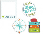 American Crafts 12-Piece Imaginisce Perfect Vacation Die-Cuts, Oh Snap